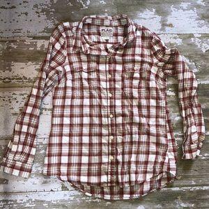 Plaid Flannel button up shirt. Medium
